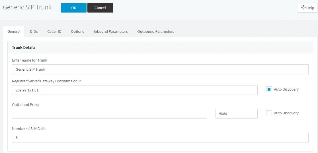 Configuring a SIP Trunk VoIP Provider 3cx setup