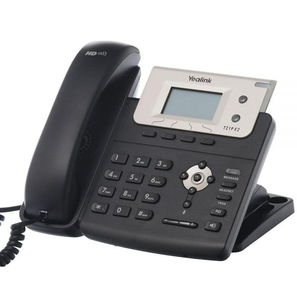 Yealink SIP-T21P E2 Entry-level IP Phone, 2 Lines- HD with POE