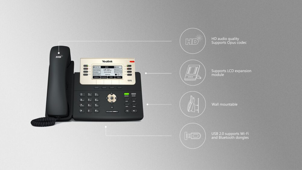 Yealink SIP-T27G Enterprise HD IP Phone - SIP TRUNK Malaysia- Business SIP  Trunking- No #1 VoIP Service Providers
