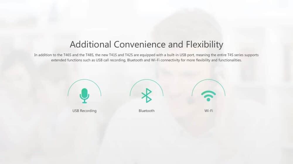 Yealink SIP-T42S Ultra-elegant Gigabit IP Phone - SIP TRUNK