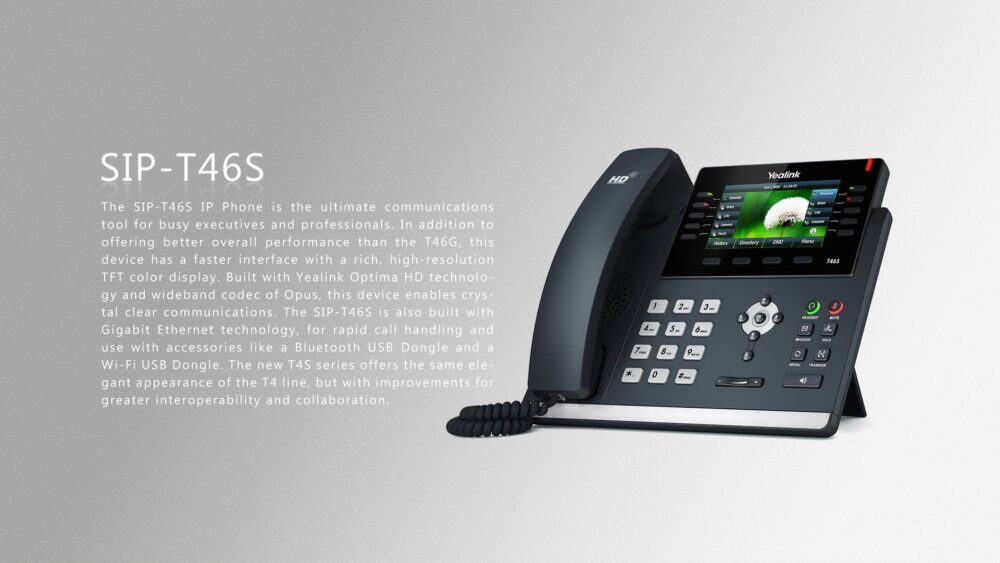 Yealink SIP-T46S Ultra-elegant Gigabit IP Phone - SIP TRUNK Malaysia-  Business SIP Trunking- No #1 VoIP Service Providers